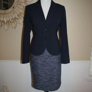 BANANA REPUBLIC Size 6 Skirt Suit Blue PERFECT